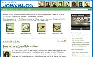 Illustration Microsoft Jobsblog 2009