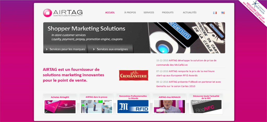 AIRTAG, Fournisseur de solutions Marketing pour le Point de Vente